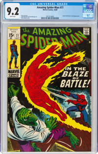 The Amazing Spider-Man #77 (Marvel, 1969) CGC NM- 9.2 White pages