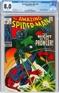 The Amazing Spider-Man #78 (Marvel, 1969) CGC VF 8.0 White pages