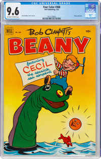 Four Color #368 Beany and Cecil (Dell, 1952) CGC NM+ 9.6 Off-white to white pages