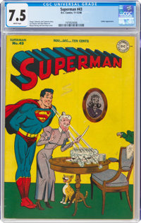 Superman #43 (DC, 1946) CGC VF- 7.5 White pages