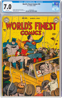 World's Finest Comics #39 (DC, 1949) CGC FN/VF 7.0 White pages