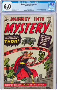 Journey Into Mystery #83 (Marvel, 1962) CGC FN 6.0 White pages