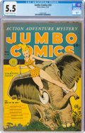 Jumbo Comics #33 (Fiction House, 1941) CGC FN- 5.5 Cream to off-white pages