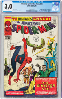 The Amazing Spider-Man Annual 1 (Marvel, 1964) CGC GD/VG 3.0 Off-white pages