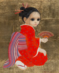 Paintings, Margaret Keane (American, b. 1927). Red Against Gold, 1981. Oil on canvas with gold leaf. 20 x 16 inches (50.8 x 40.6 cm...