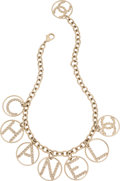 """Luxury Accessories:Accessories, Chanel Gold Chain & Crystal Medallions Necklace. Condition: 2 . 17"""" Length. ..."""