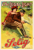 """Movie Posters:Western, The Legal Light (Selig, 1915). Folded, Very Fine-. One Sheet (28"""" X 41"""").. ..."""