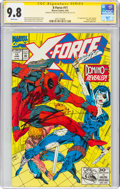 Modern Age (1980-Present):Science Fiction, X-Force #11 Signature Series: Stan Lee and Rob Liefeld (Marvel, 1992) CGC NM/MT 9.8 White pages....