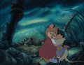 Animation Art:Production Cel, The Secret of NIMH Mrs. Brisby and Mr. Ages Production Cel on Master Production Background (Don Bluth Productions, 198...