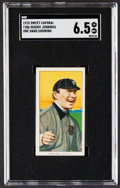 Baseball Cards:Singles (Pre-1930), 1909-11 T206 Sweet Caporal Hughie Jennings (One Hand Shows) SGC EX/NM+ 6.5....