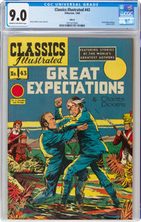 Classics Illustrated #43 Great Expectations HRN 62 (Gilberton, 1949) CGC VF/NM 9.0 Cream to off-white pages