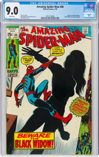 The Amazing Spider-Man #86 (Marvel, 1970) CGC VF/NM 9.0 White pages