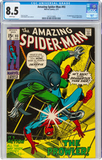 The Amazing Spider-Man #93 (Marvel, 1971) CGC VF+ 8.5 White pages