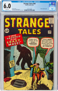 Strange Tales #100 (Marvel, 1962) CGC FN 6.0 White pages