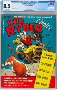 Red Ryder Comics #3 (Dell, 1941) CGC VF+ 8.5 Off-white pages
