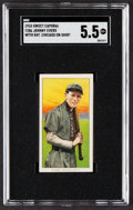 Baseball Cards:Singles (Pre-1930), 1909-11 T206 Sweet Caporal Johnny Evers (With Bat, Chicago Jersey) SGC EX+ 5.5....