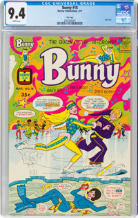 Bunny #18 File Copy (Harvey, 1971) CGC NM 9.4 White pages