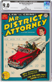 Mr. District Attorney #1 Ohio Pedigree (DC, 1948) CGC VF/NM 9.0 White pages