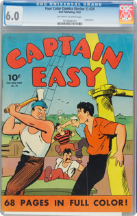 Four Color (Series One) #24 Captain Easy (Dell, 1942) CGC FN 6.0 Off-white to white pages