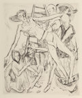 Prints & Multiples, Max Beckmann (German, 1884-1950). Descent from the Cross, pl. 11, from Faces, 1918. Drypoin...