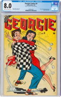 Golden Age (1938-1955):Humor, Georgie Comics #9 (Timely, 1947) CGC VF 8.0 Cream to off-white pages....
