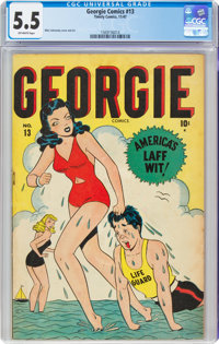 Georgie Comics #13 (Timely, 1947) CGC FN- 5.5 Off-white pages