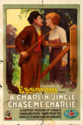 """Movie Posters:Comedy, Chase Me Charlie (Essanay, 1918). Folded, Fine. One Sheet (28"""" X 42"""").. ..."""