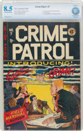 Golden Age (1938-1955):Crime, Crime Patrol #7 (EC, 1948) CBCS VF+ 8.5 Off-white to white pages....