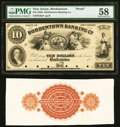 Bordentown, NJ- Bordentown Banking Co. $10 18__ as G8a as Wait 98 Face and Back Proofs PMG Choice About Unc 58, Very Fin...