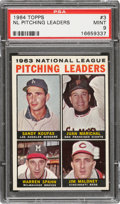 Baseball Cards:Singles (1960-1969), 1964 Topps NL Pitching Leaders #3 PSA Mint 9 - None Higher. ...