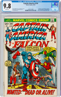Captain America #154 (Marvel, 1972) CGC NM/MT 9.8 White pages