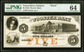 Obsoletes By State:Connecticut, Danbury, CT- Wooster Bank $5 18__ as G6 Proof PMG Choice Uncirculated 64.. ...
