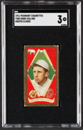 Baseball Cards:Singles (Pre-1930), 1911 T205 Gold Border Eddie Collins (Mouth Closed) SGC VG 3....