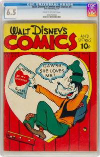 Walt Disney's Comics and Stories #5 (Dell, 1941) CGC FN+ 6.5 Cream to off-white pages