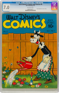 Walt Disney's Comics and Stories #8 (Dell, 1941) CGC FN/VF 7.0 Off-white pages