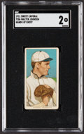 Baseball Cards:Singles (Pre-1930), 1909-11 T206 Sweet Caporal Walter Johnson (Hands at Chest) SGC Good 2....