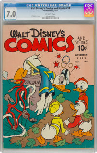 Walt Disney's Comics and Stories #14 (Dell, 1941) CGC FN/VF 7.0 Off-white pages