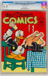 Walt Disney's Comics and Stories #15 (Dell, 1941) CGC FN 6.0 Off-white pages