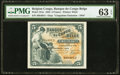 World Currency, Belgian Congo Banque du Congo Belge 5 Francs 10.03.1944 Pick 13Ac PMG Choice Uncirculated 63 EPQ.. ...