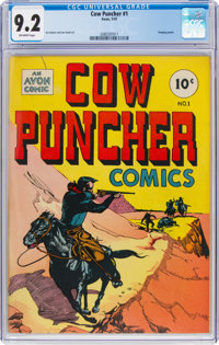 Cow Puncher Comics #1 (Avon, 1947) CGC NM- 9.2 Off-white pages