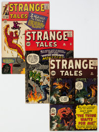 Strange Tales #92, 99, and 122 Group (Marvel, 1962-64).... (Total: 3 Comic Books)