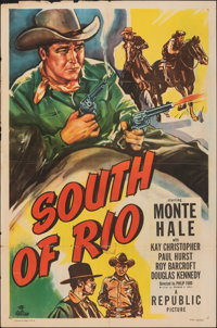 """South of Rio & Other Lot (Republic, 1949). Folded, Overall: Fine+. One Sheets (3) (27"""" X 41"""") & Autogr..."""