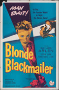 """Movie Posters:Crime, Blonde Blackmailer (Allied Artists, 1958). Folded, Fine. One Sheet (27"""" X 41""""). Crime.. ..."""