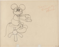 The Cactus Kid Mickey Mouse Animation Drawing (Walt Disney, 1930)