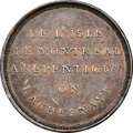 "Canada, Canada: Lower Canada ""Bout De L'Isle - Caleche"" Token ND (1808) AU53 Brown NGC,..."