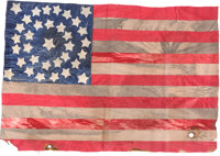 "United States 34-Star Camp Flag - ""The Tiger Regiment"" 43rd MA Vol. Inf"