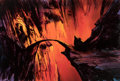 Animation Art:Painted cel background, The Lord of the Rings Moria Background Original Art (Ralph Bakshi, 1978)....