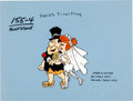 "Animation Art:Color Model, The Flintstones ""Fred's Final Fling"" Fred and Wilma Color Model Cel (Hanna-Barbera, 1980)...."