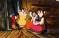 Animation Art:Production Cel, An American Tail: Fievel Goes West Mousekewitz Family Production Cel on Key Master Production Background (Universal, 1...