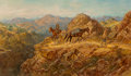 Paintings, Henry Raschen (American, 1856-1937). The Weary Trail. Oil on canvas. 36 x 60 inches (91.4 x 152.4 cm). Signed lower righ...